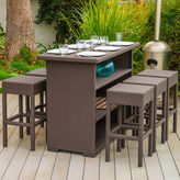 Asstd National Brand Trinidad 7-pc. Wicker Outdoor Bar Set