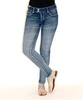 Amethyst Jeans Ada Double-Button BodyCon Jegging - Plus