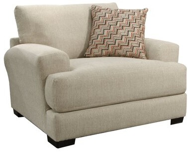 """Thumbnail for your product : Red Barrel Studio Amaro 53"""" Wide Chenille Armchair Upholstery: Cashew, USB Port: No"""