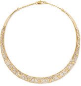 Noir Keeper Gold-Tone And Crystal Choker