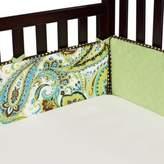 My Baby Sam Paisley Splash Crib Bumper in Lime