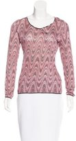 Missoni Abstract Patterned Long Sleeve Top