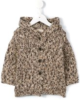 Babe And Tess - chunky knit hooded cardigan - kids - Wool - 12 mth