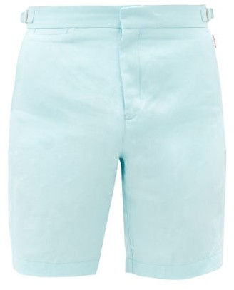 Orlebar Brown Norwich Linen Shorts - Light Blue