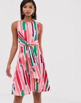 Closet London wrap front pencil dress in rainbow fleck print