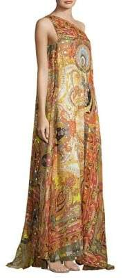 Etro 50th Anniversary One-Shoulder Silk Gown