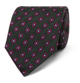Dunhill 8cm Medallion-patterned Mulberry Silk-jacquard Tie - Emerald