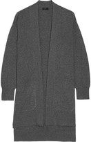 Joseph Draped Wool Cardigan - Dark gray