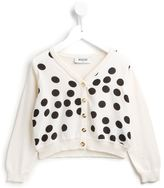 Moschino Kids - polka dot cardigan - kids - Silk/Cotton/Polyamide/Wool - 6 yrs