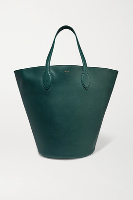 KHAITE Circle Medium Leather Tote - Green