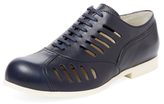 Jil Sander Navy Cut-Out Leather Oxford
