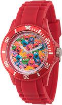 Sesame Street Unisex Red Strap Watch-Wss000006