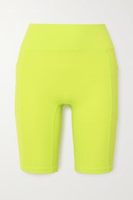 All Access Record Breaker Stretch Biker Shorts - Yellow