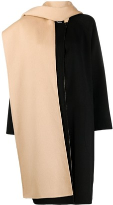 Theory Scarf-Detail Double-Face Coat