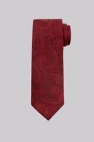 Moss Bros Wine Paisley Silk Tie