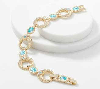 Grace Kelly Collection Simulated Aquamarine Bracelet