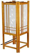 Oriental Furniture Good Inexpensive Gift Idea Her Him, 18-Inch Japanese Double Cross Wood and Paper Lantern with Cranes
