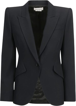 Alexander McQueen Single-Breasted Structured Blazer