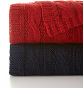 Pine Cone Hill Comfy Cable-Knit Throw