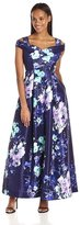 Sangria SBGX882 Floral Printed A-line Dress