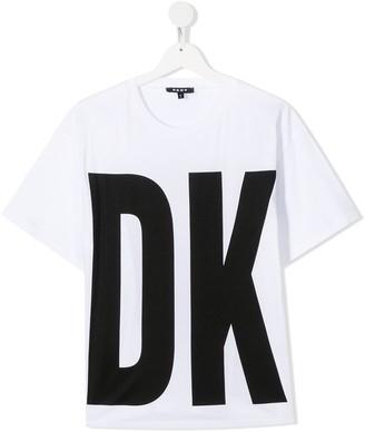 DKNY TEEN logo-print crew neck T-Shirt