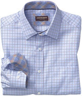 Johnston & Murphy Dotted Windowpane Twill Point-Collar Shirt
