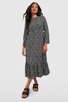 boohoo Woven Mixed Spot Dress