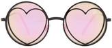 Betsey Johnson Women&s Round With Heart Sunglasses