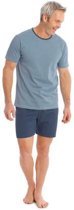 Reserve Tee & Knit Short Set - Fine Stripe