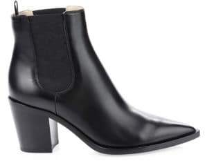 Gianvito Rossi Women's Western Leather Booties - Black - Size 36 (6)