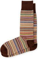 Paul Smith Multicolored Fine Striped Socks