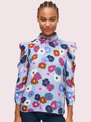 Kate Spade winter garden blouse