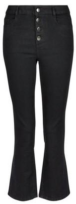 Dorothy Perkins Womens Black Button Crop 'Kick Flare' Denim Jeans, Black