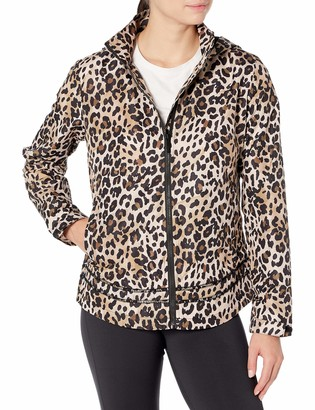 Andrew Marc Hooded Leopard Raincoat With Hood