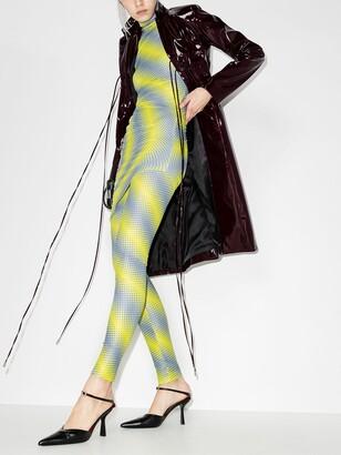 MAISIE WILEN Yellow Diagonal Print Mini Dress
