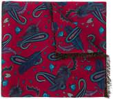 Paul Smith paisley print scarf
