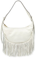 Elizabeth and James Zoe Smooth Leather Hobo Bag w/ Fringe, Ivory