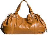 Gerard Darel 36 Heures Leather Shoulder Bag, Tobacco