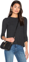Enza Costa Long Sleeve Flare Crew Neck Top