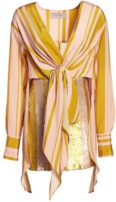 Silvia Tcherassi Gertrude Knotted Sequin Dress