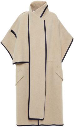 Victoria Victoria Beckham Silk Satin-trimmed Wool-blend Felt Cape