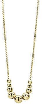 Lagos 18K Yellow Gold Caviar Gold Graduated Bead Center Chain Necklace, 16-18