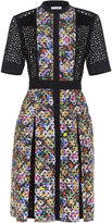 Mary Katrantzou Caule floral-print broderie-anglaise dress