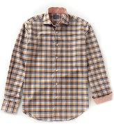 Thomas Dean Check Long-Sleeve Woven Shirt