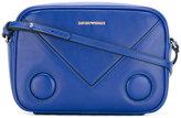 Emporio Armani logo print cross body bag - women - Calf Leather - One Size