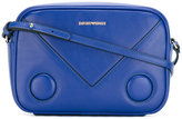 Emporio Armani logo print crossbody bag - women - Calf Leather - One Size