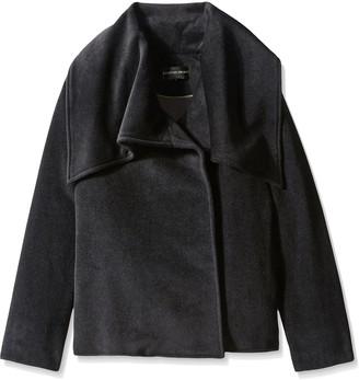 Christian Siriano Women's Oversize Collar Jacket