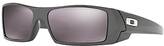Oakley OO9014 Gascan Prizm Polarised Wrap Sunglasses, Granite/Grey
