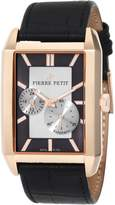 Pierre Petit Men's P-782B Serie Paris Automatic Rose-Gold PVD Rectangular Leather Watch