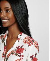 Express original fit long sleeve print portofino shirt